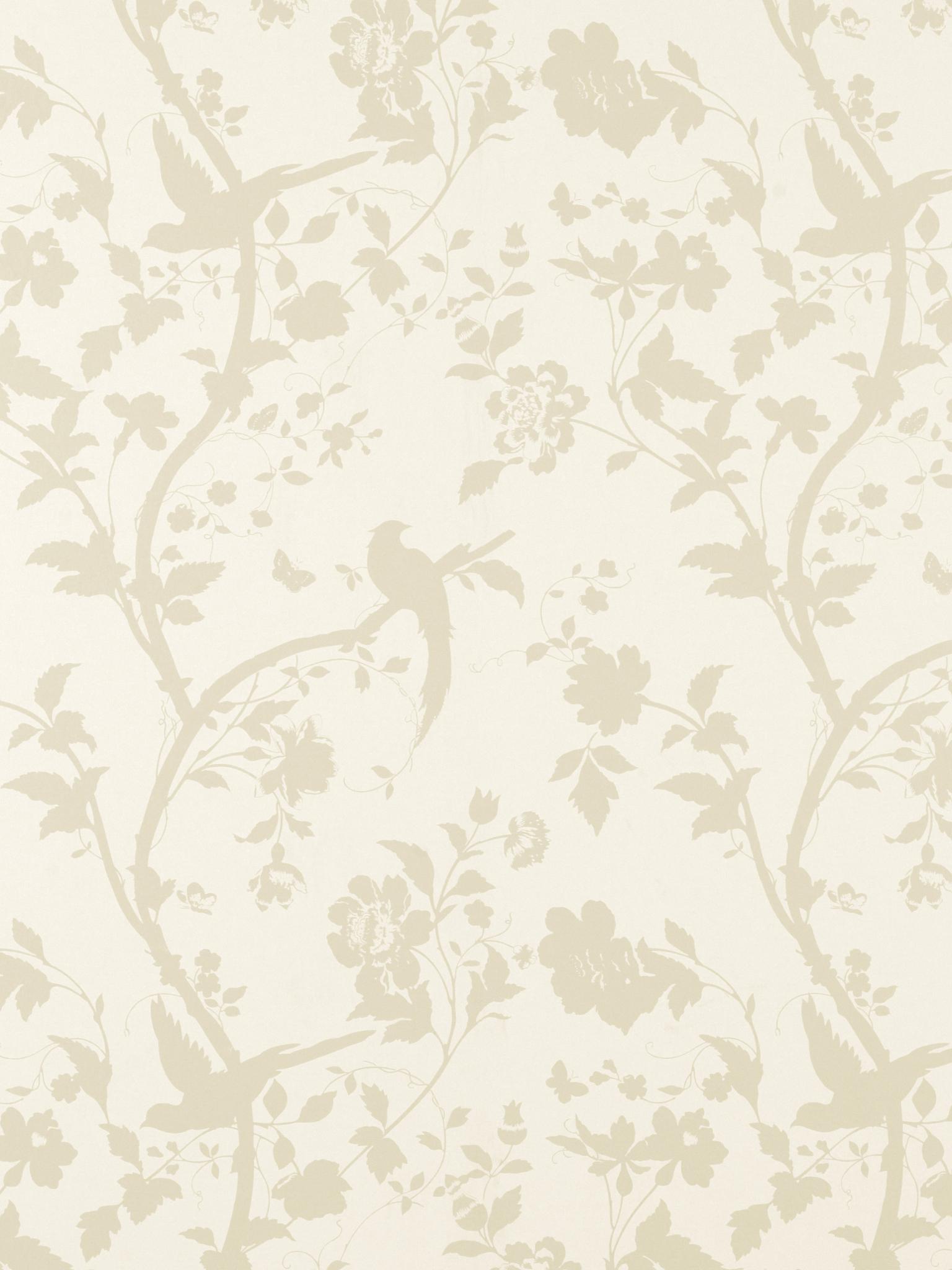 Free Download Wallpaper Oriental Garden Goldoff White Floral