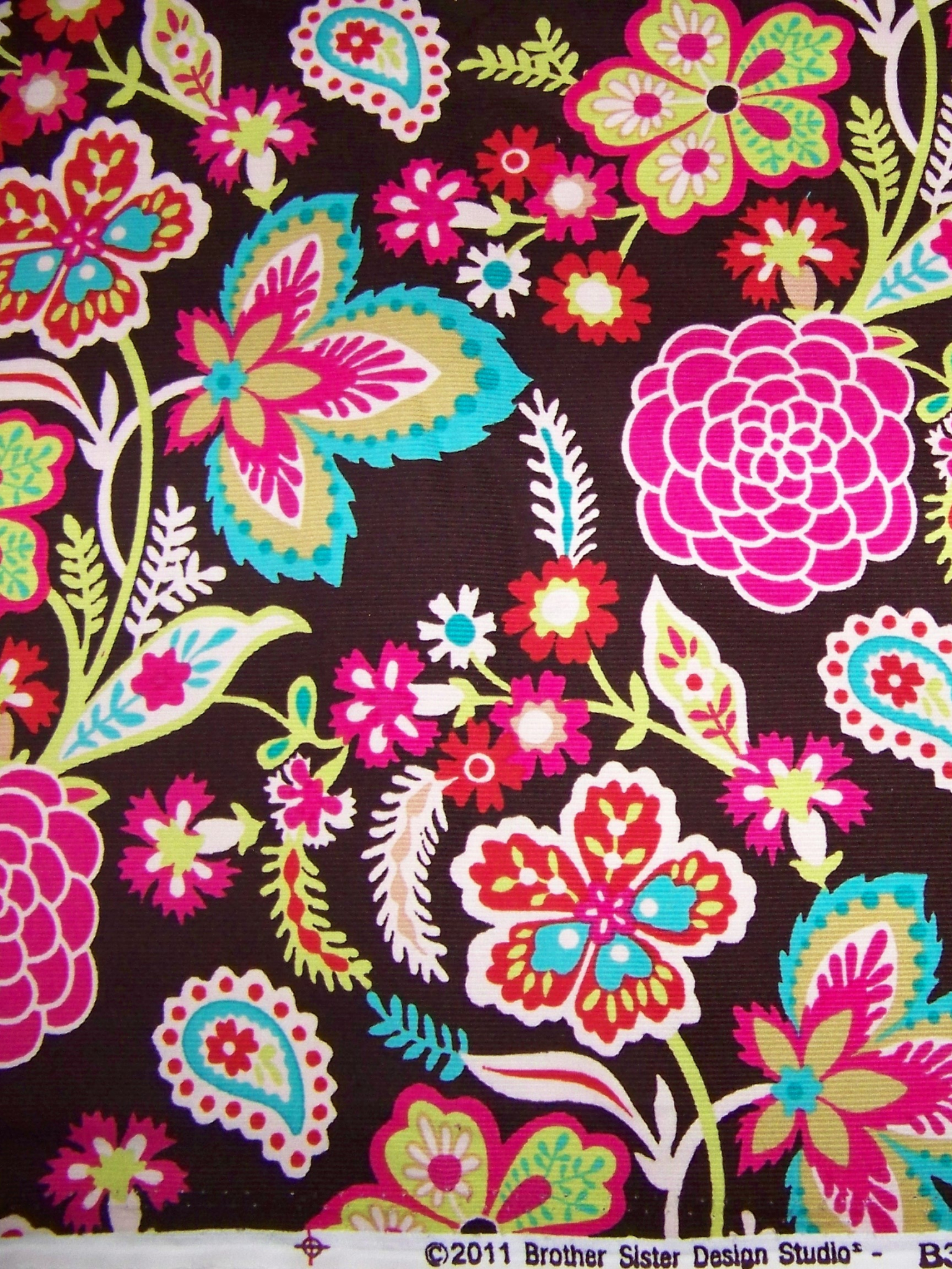 Free Download Bright Floral Print With Bright Floral Print I