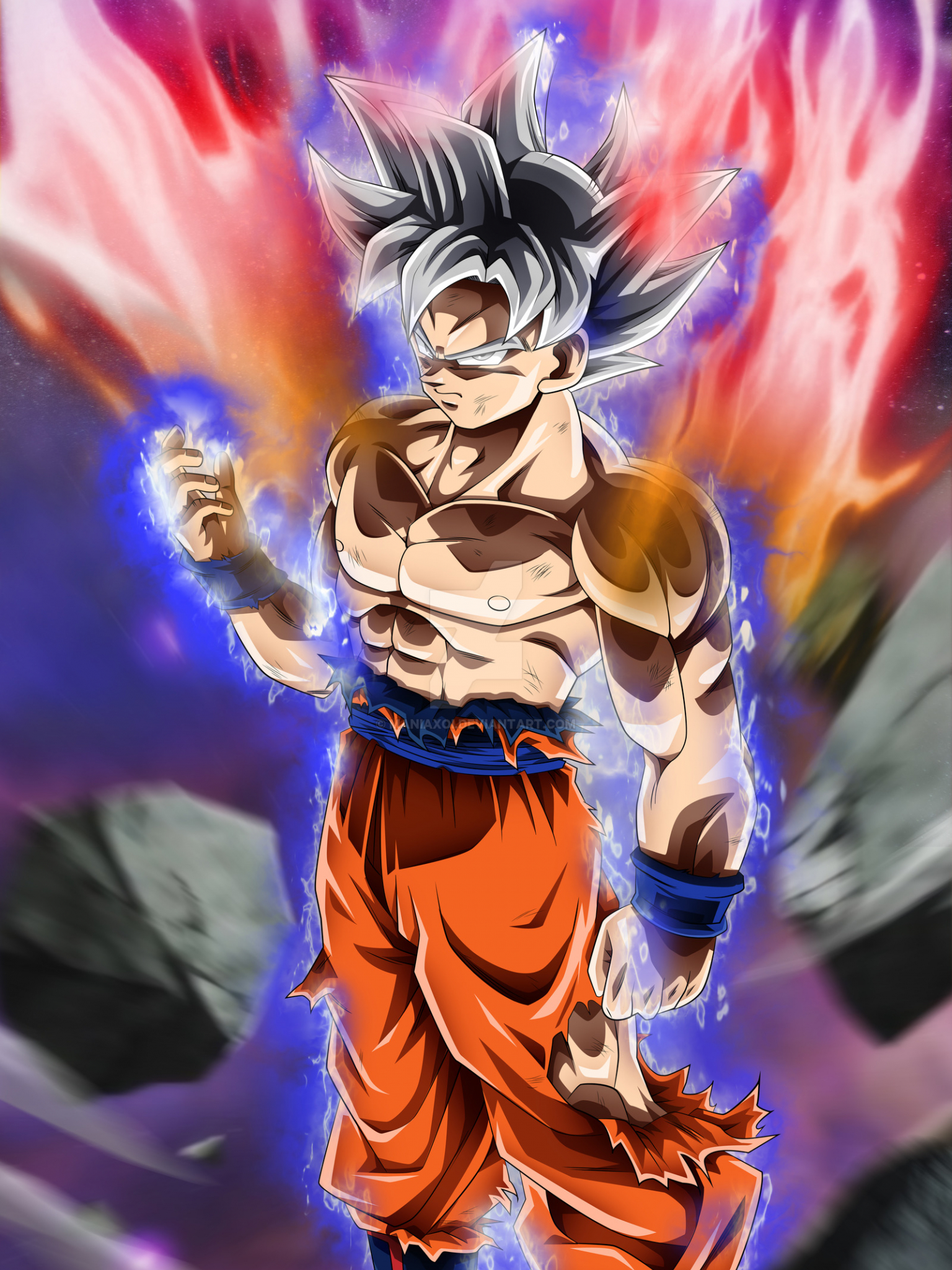 Free Download Goku Mastered Ultra Instinct By Maniaxoi 1600x2263