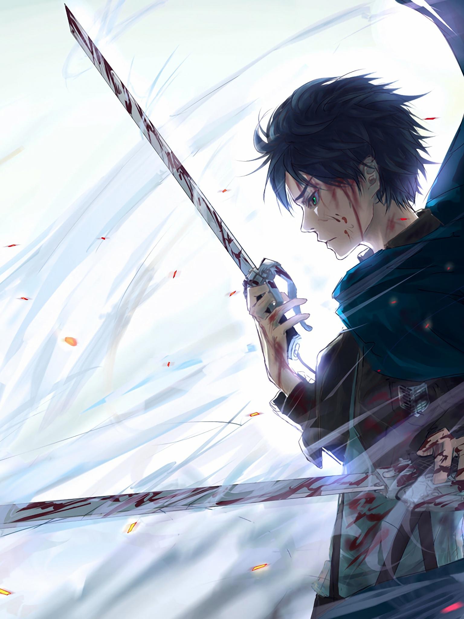 Free Download Eren Yeager 4k 8k Hd Attack On Titan Shingeki