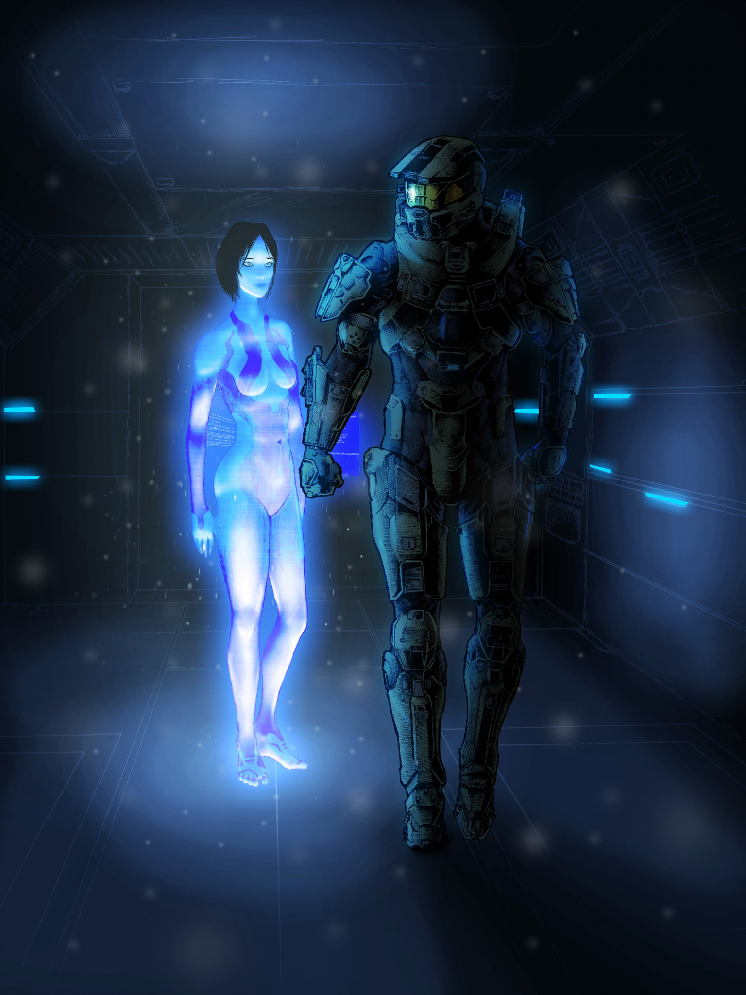 Free Download Halo Master Chief And Cortana By Thorup D6i9ugojpg