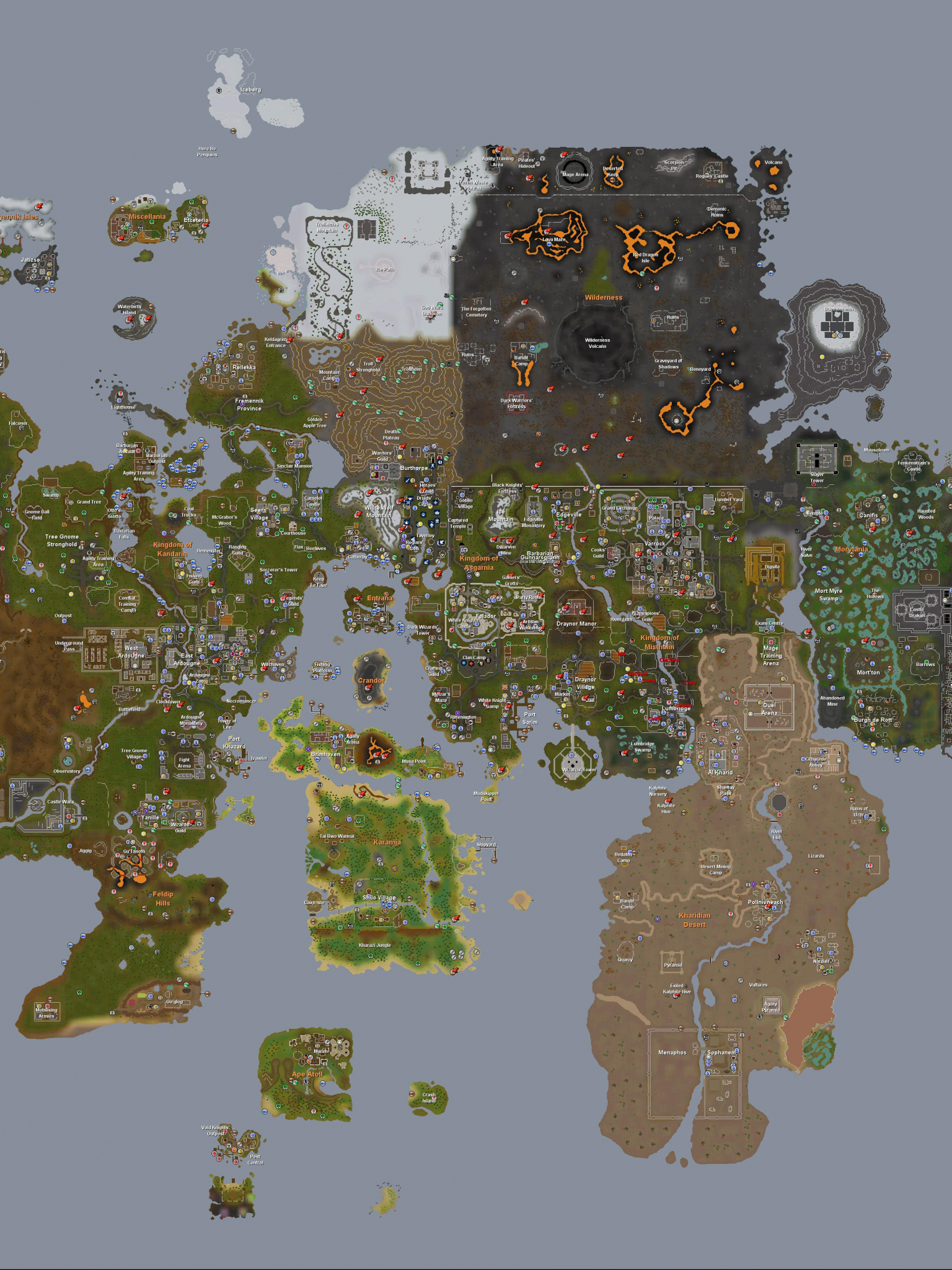 Free download Related Wallpapers Full Runescape Map 2007 ...