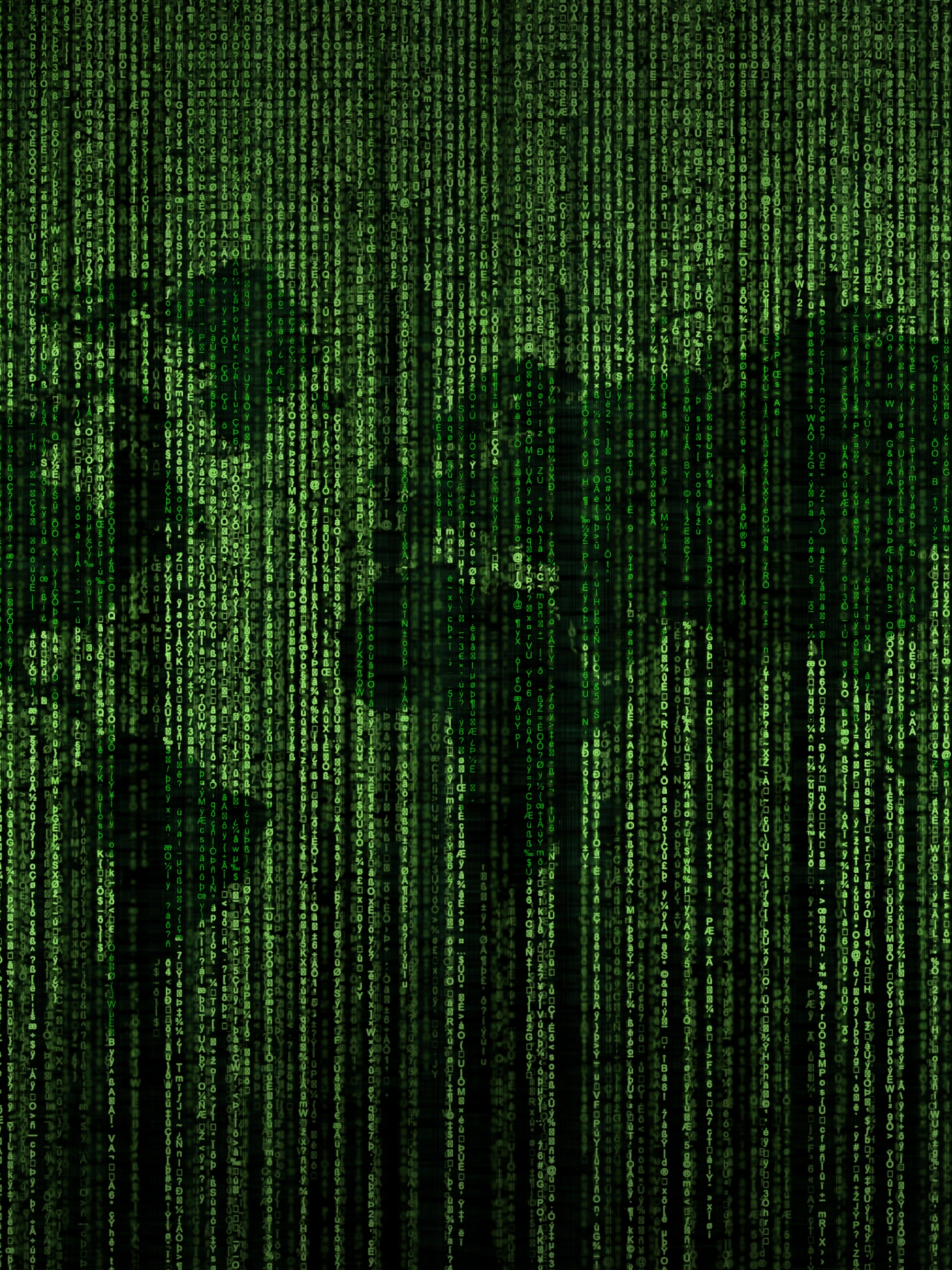 Free Download Green Matrix Code World Map 4k Hd Desktop