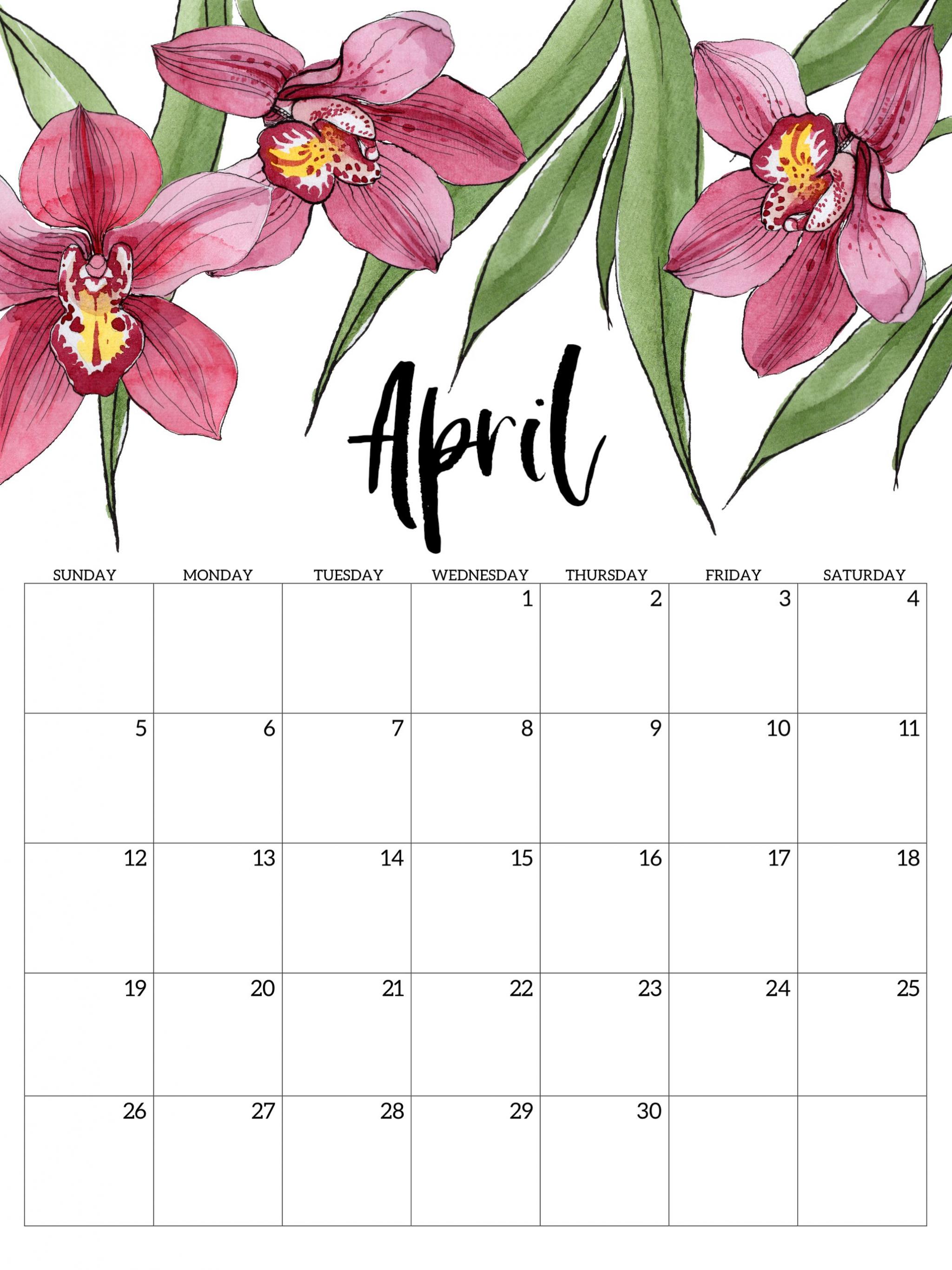 Free Download April 2020 Calendar Wallpapers Top April 2020