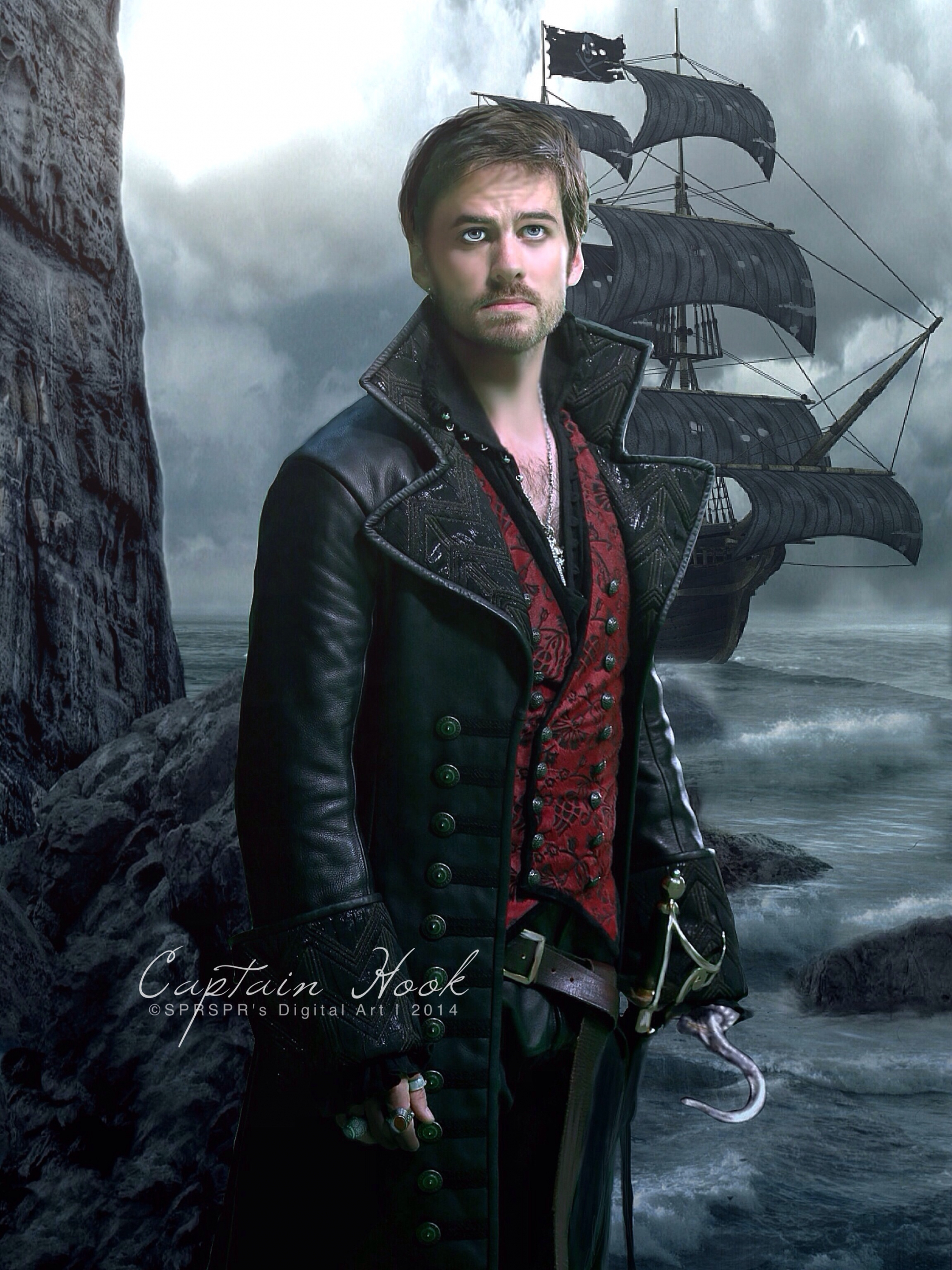 Free Download Captain Hook Once Upon A Time Wallpaper Captain Hook