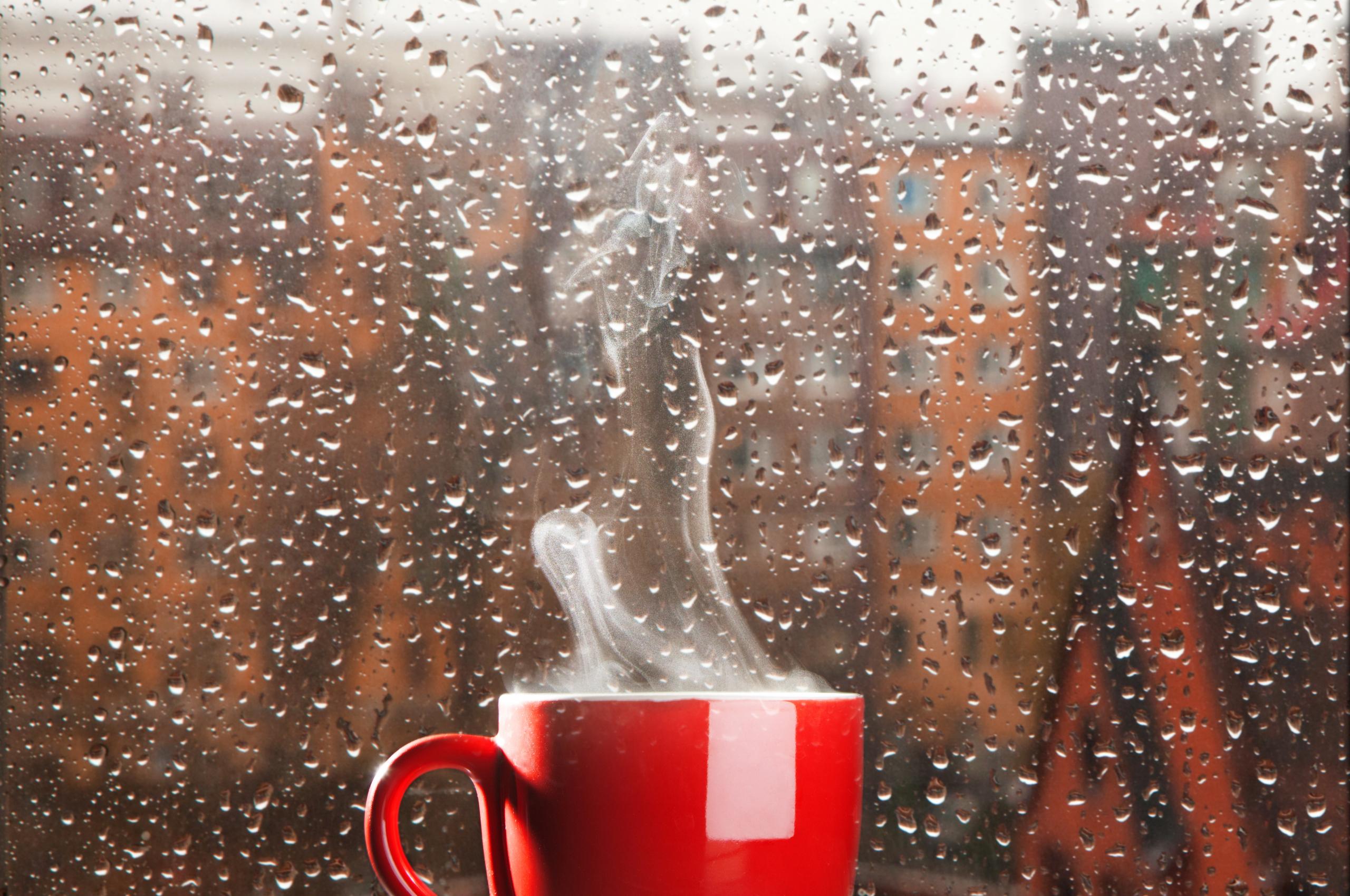Открытка дождь за окном и настроение
