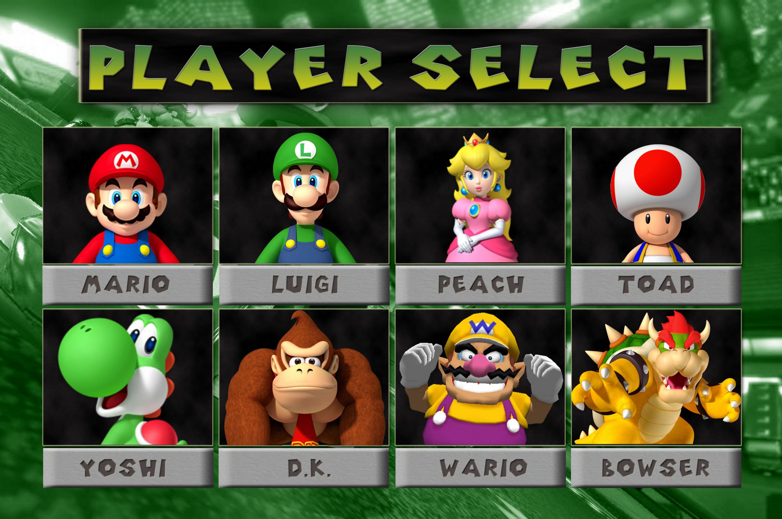 Free Download Mario Kart 64 Hd Game Select Screen Mario And Mario