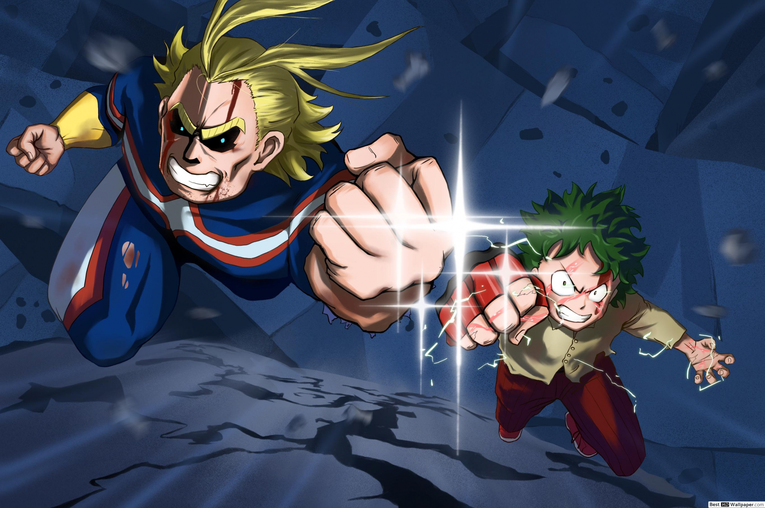 Free Download My Hero Academia Two Heroes All Might Izuku