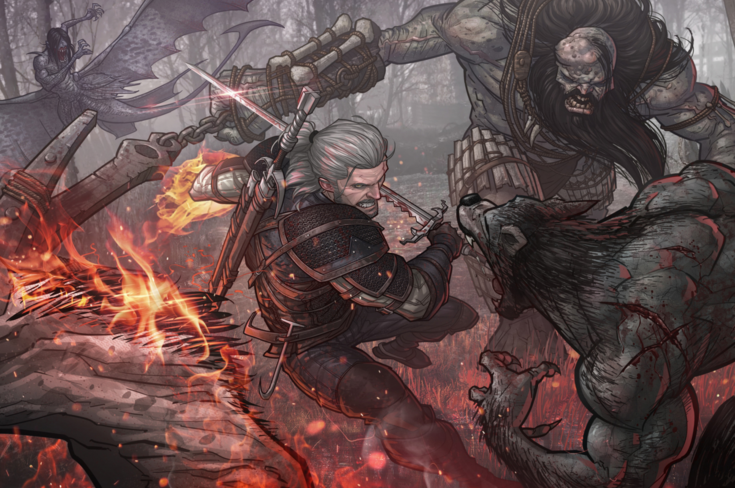 Free Download Wallpaper The Witcher 3 Geralt Patrick Brown The