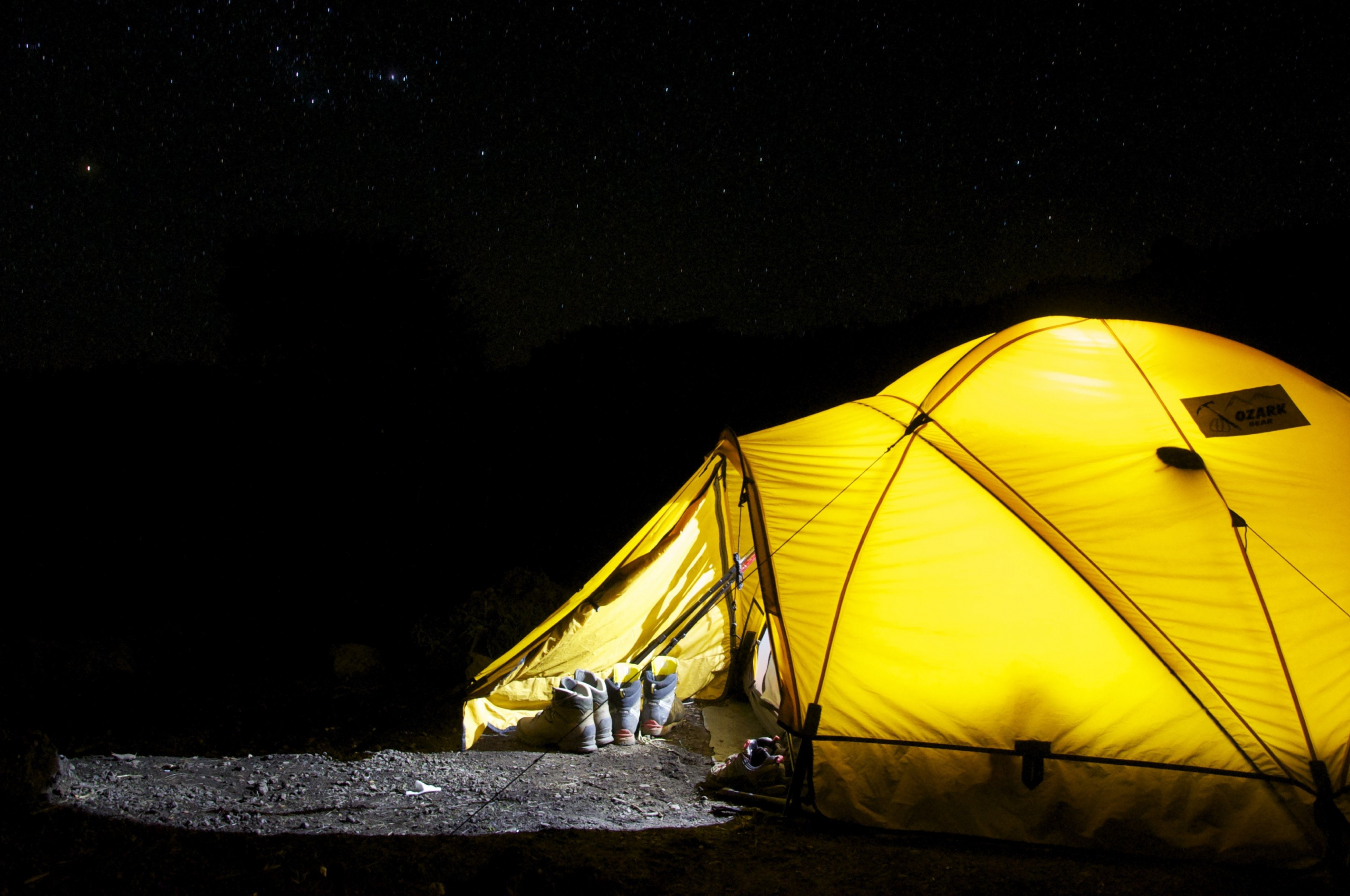 Free download Wallpaper CC0 Camping with tent in the night ...