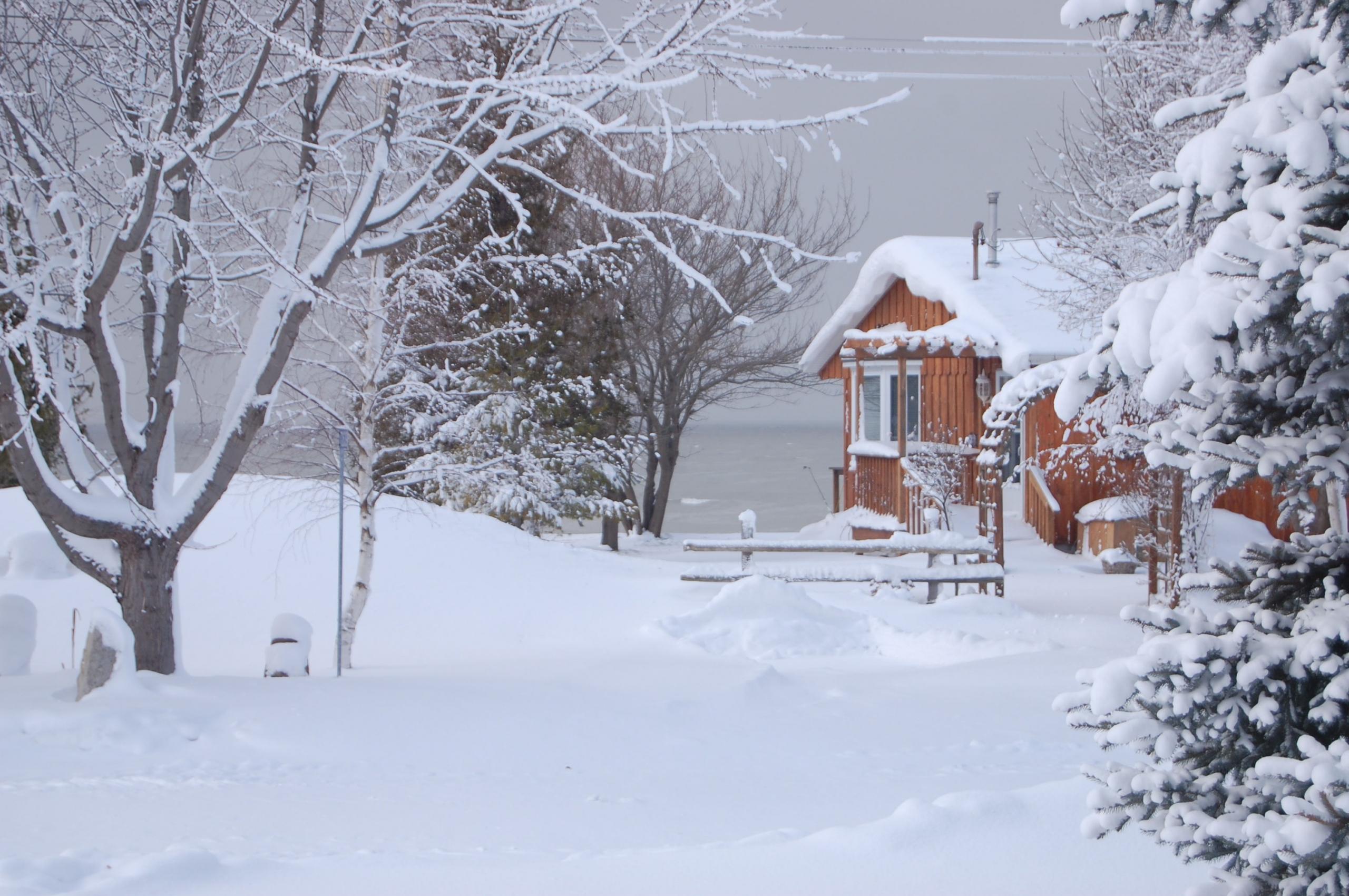 Free Download Cottage Winter Desktop Background Full Screen