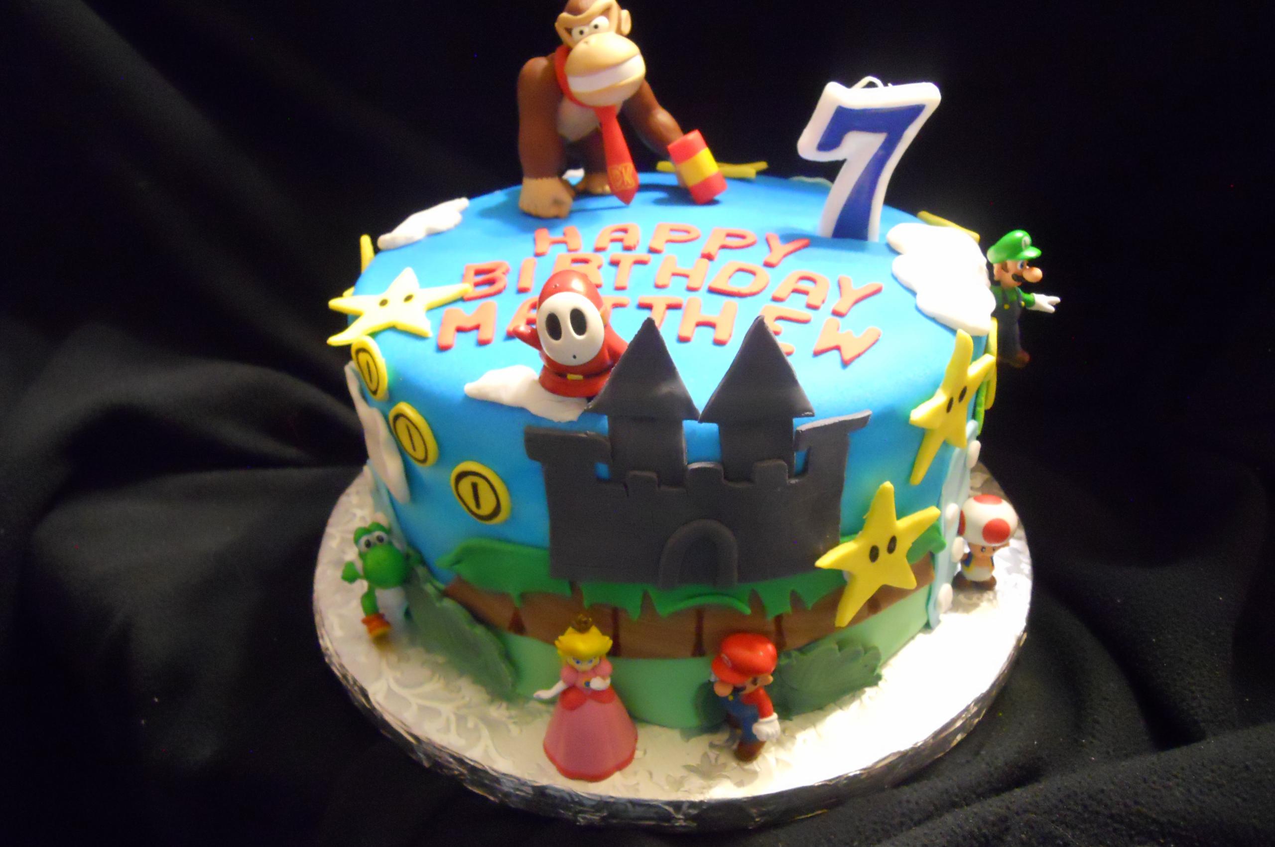 Strange Free Download Nintendo Birthday Boy Birthday Cakes 4000X3000 For Personalised Birthday Cards Veneteletsinfo