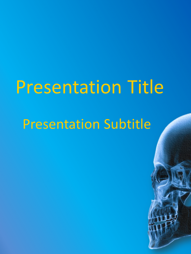 Free Download Orthopedics Powerpoint Template Download