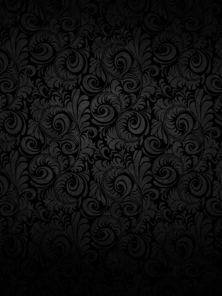 Free Download Dark Floral Pattern Desktop Wallpaper 1920x1200