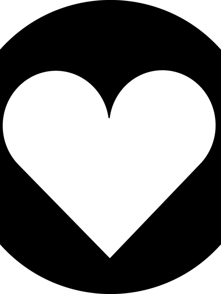 Free Download Black And White Heart Wallpaper 1125x1125
