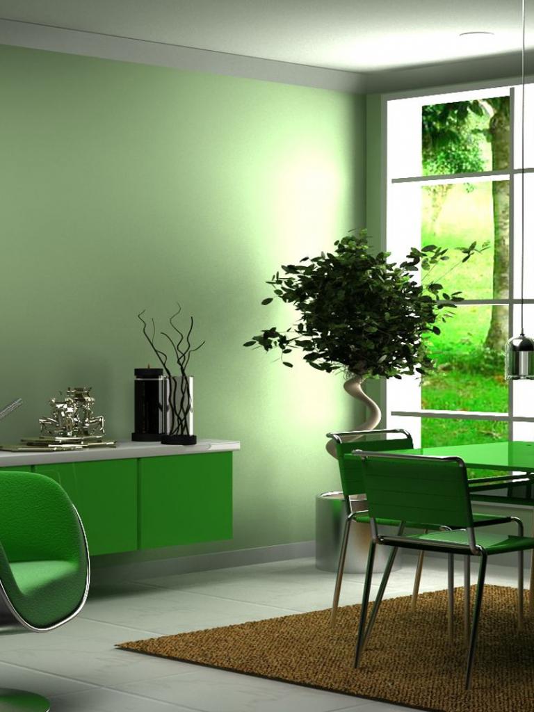 Картинка кабинет зеленый