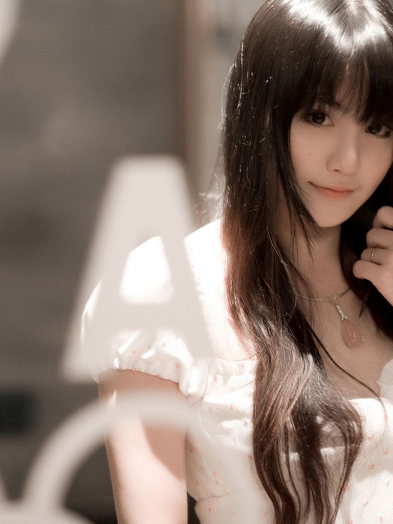 Free Download Pretty Asian Girl With Black Long Hair Wallpaper In