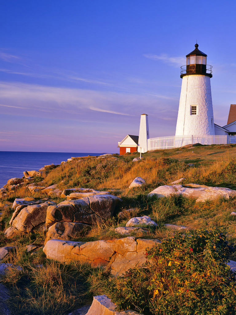 Free Download Wallpaper Pemaquid Point Light Lighthouse