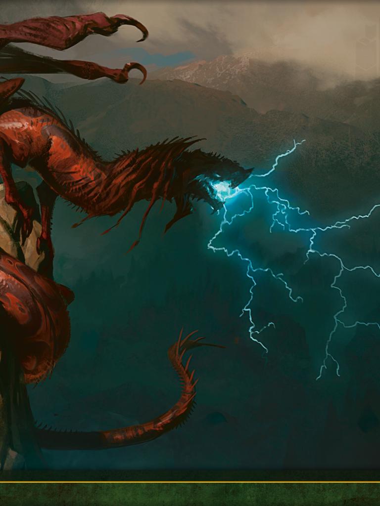 Wallpaper of the Week Stormbreath Dragon Daily MTG Magic The