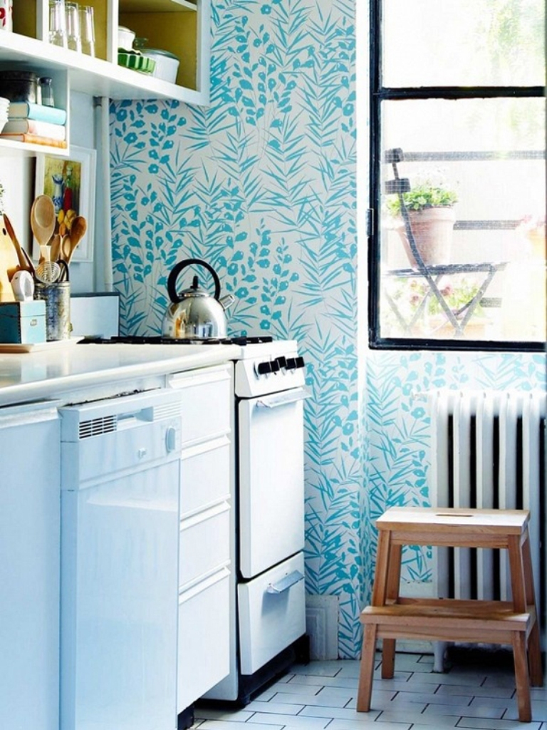 Free Download 15 Charminng Kitchens With Floral Wallpaper Rilane