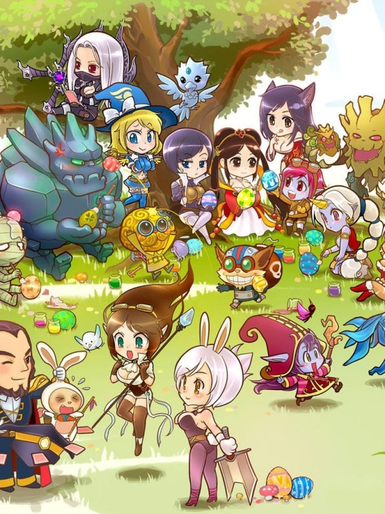 Free Download Chibi League Of Legends Easter 1280x800 Wallpaper