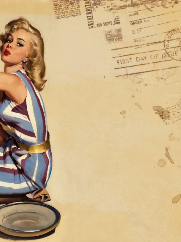 Free download Pin up Wallpaper Style Retro Girls Honnoror ...