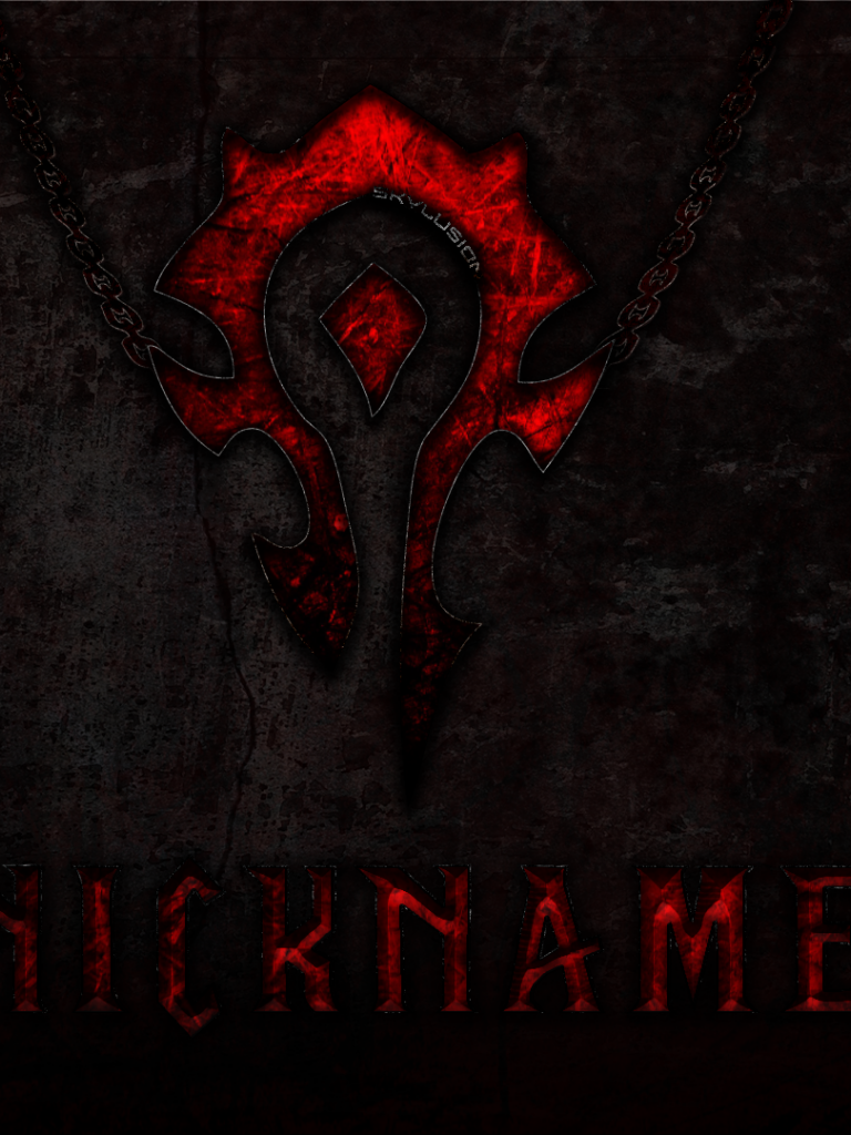 Free Download Wow Horde Logo Wallpaper For The Horde