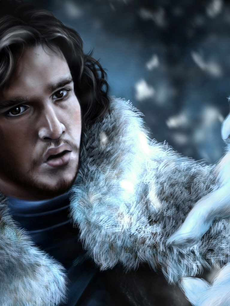 Jon Snow Ghost Wallpaper Hd Wallpapers