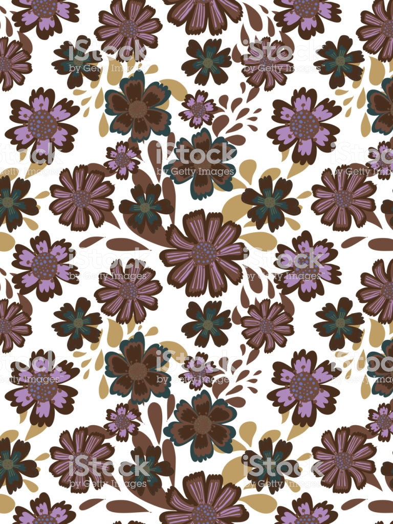 Free Download Cute Pattern In Flower White Background Ditsy Floral
