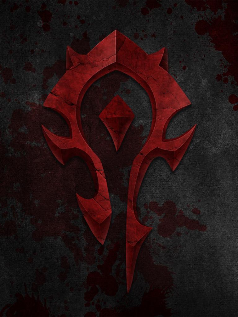 Free Download Wow Horde Logo Wallpaper By Gwinnblade