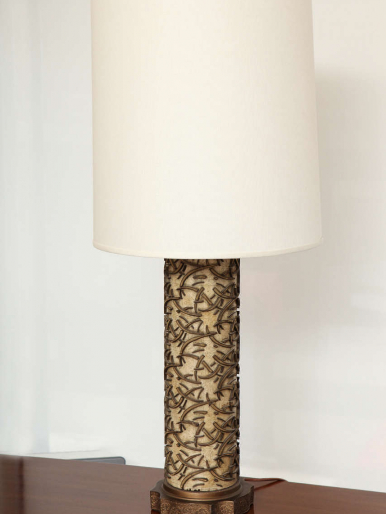 Free Download Vintage Wallpaper Roller Lamp C 1940 For Sale