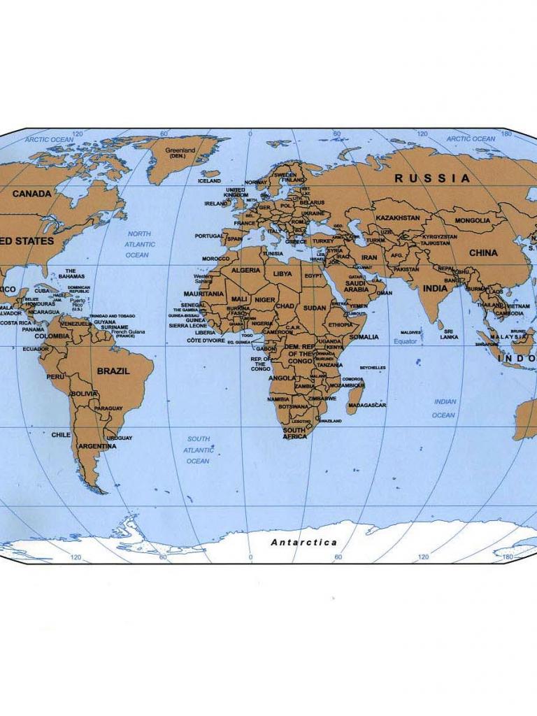 Free World Map Desktop Background Desktop