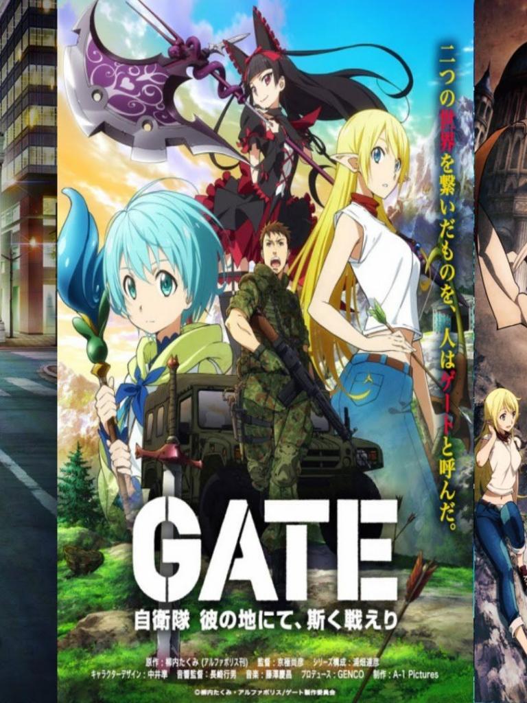 Free Download Anime Gate Jieitai Kanochi Nite Kaku Tatakaeri