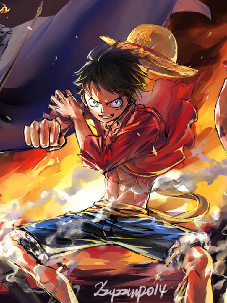 Free download ace one piece anime hd 1920x1080 1080p wallpaper and compatible for [1920x1080 ...