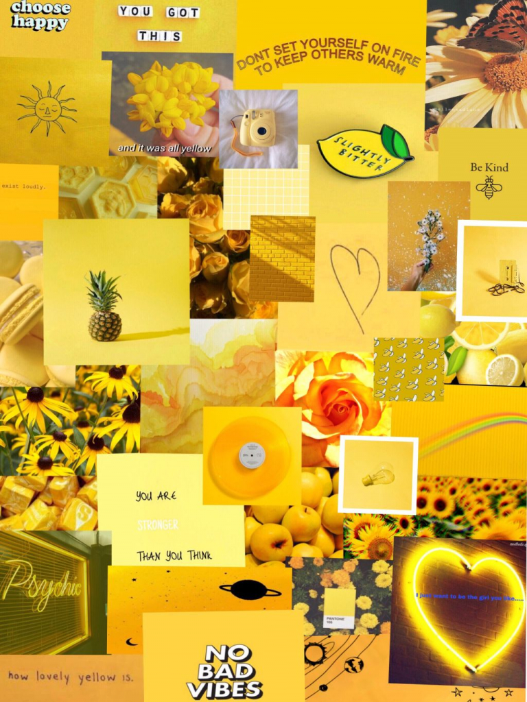 Free freetoedit yellow aesthetic wallpaper