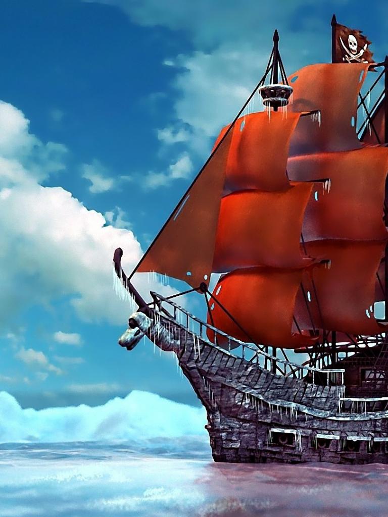 Картинки пиратский корабль на телефон, картинки телефон прикольные