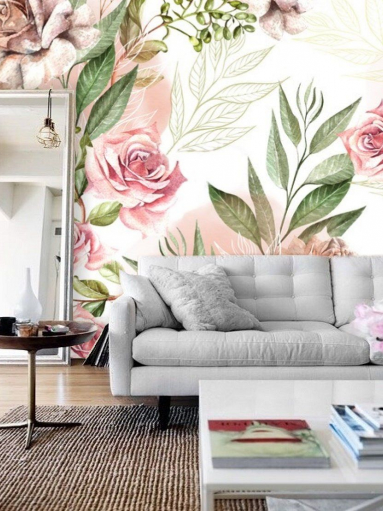 Free Download Remove Wallpaper Floral Nursery Wallpaper Mural