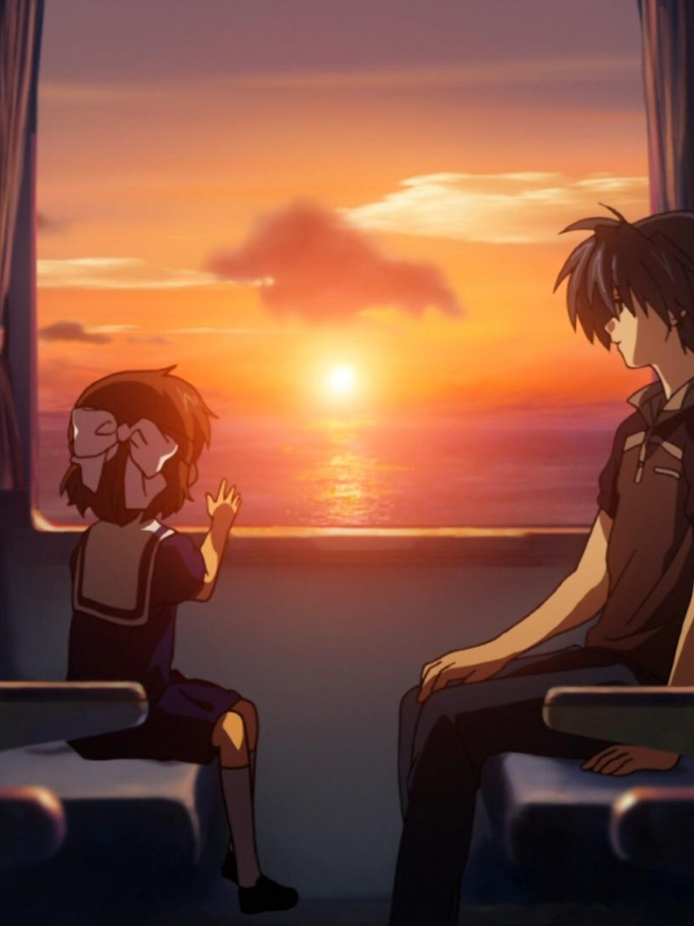 Free Download Clannad After Story Okazaki Tomoya Ushio Sunset