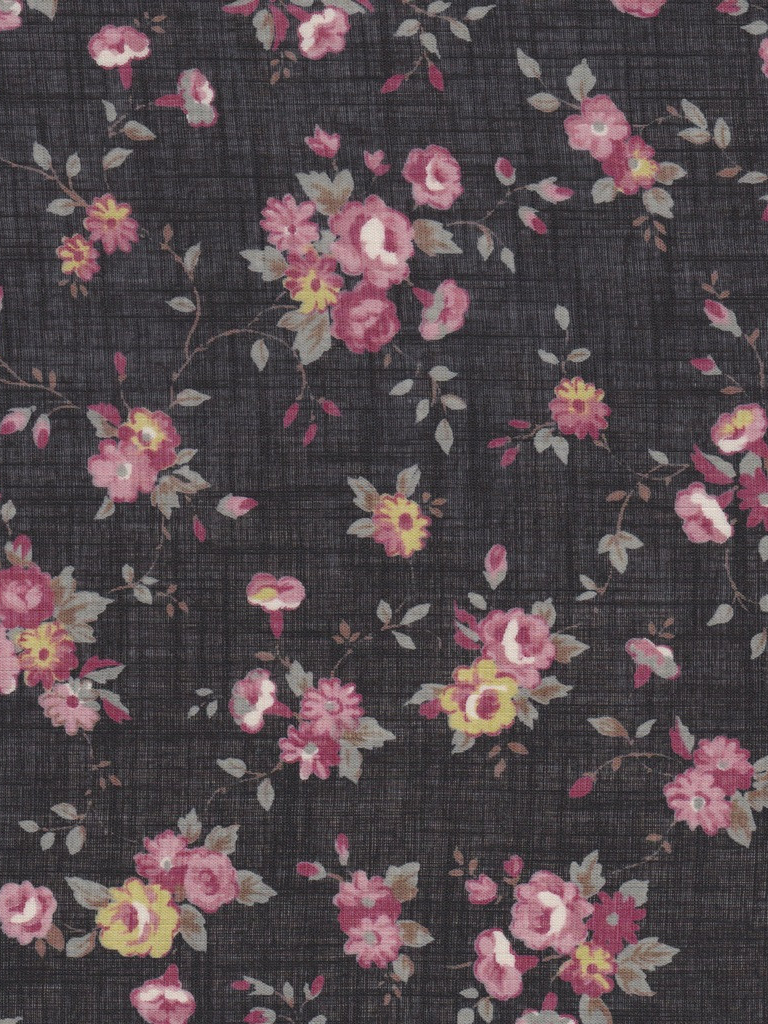 Free Download Tumblr Black Floral Print Wallpapers 1016x1024 For