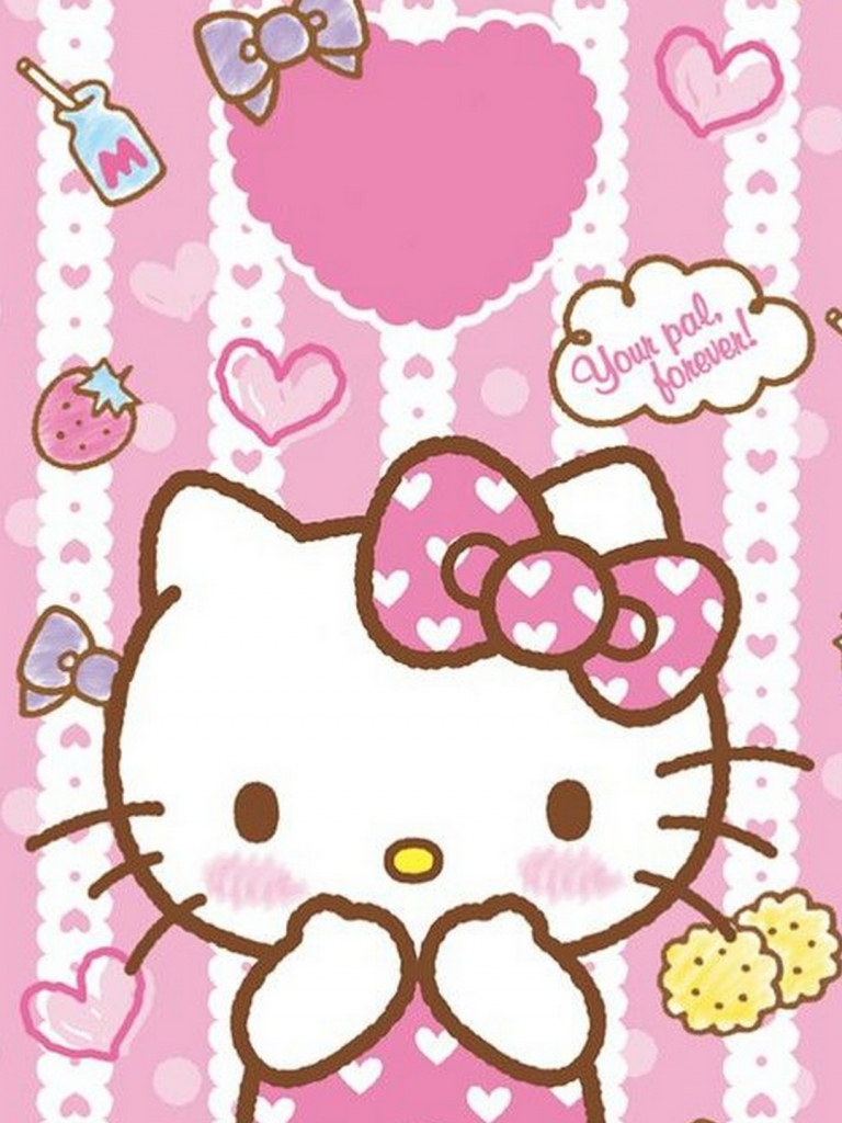 Free Start Download Hello Kitty Pink Wallpaper