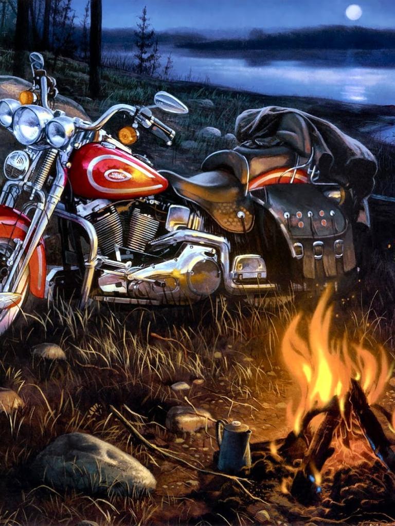 Открытка мотоциклистке