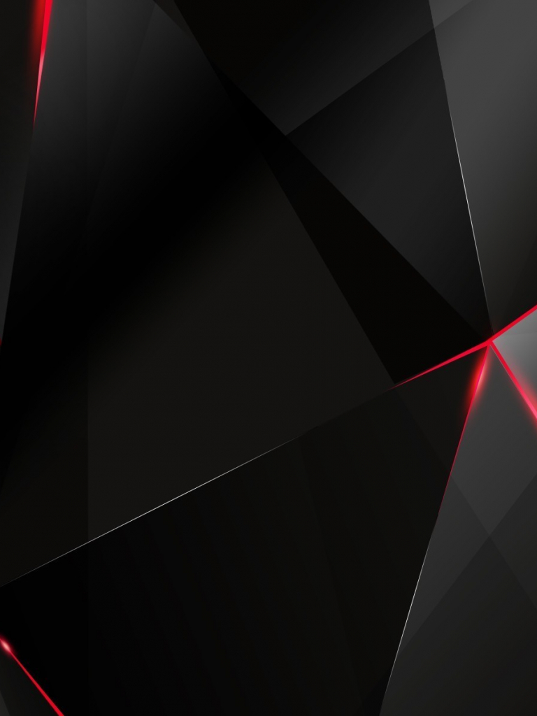 Free Download Black Polygon With Red Edges Wallpaper 1202