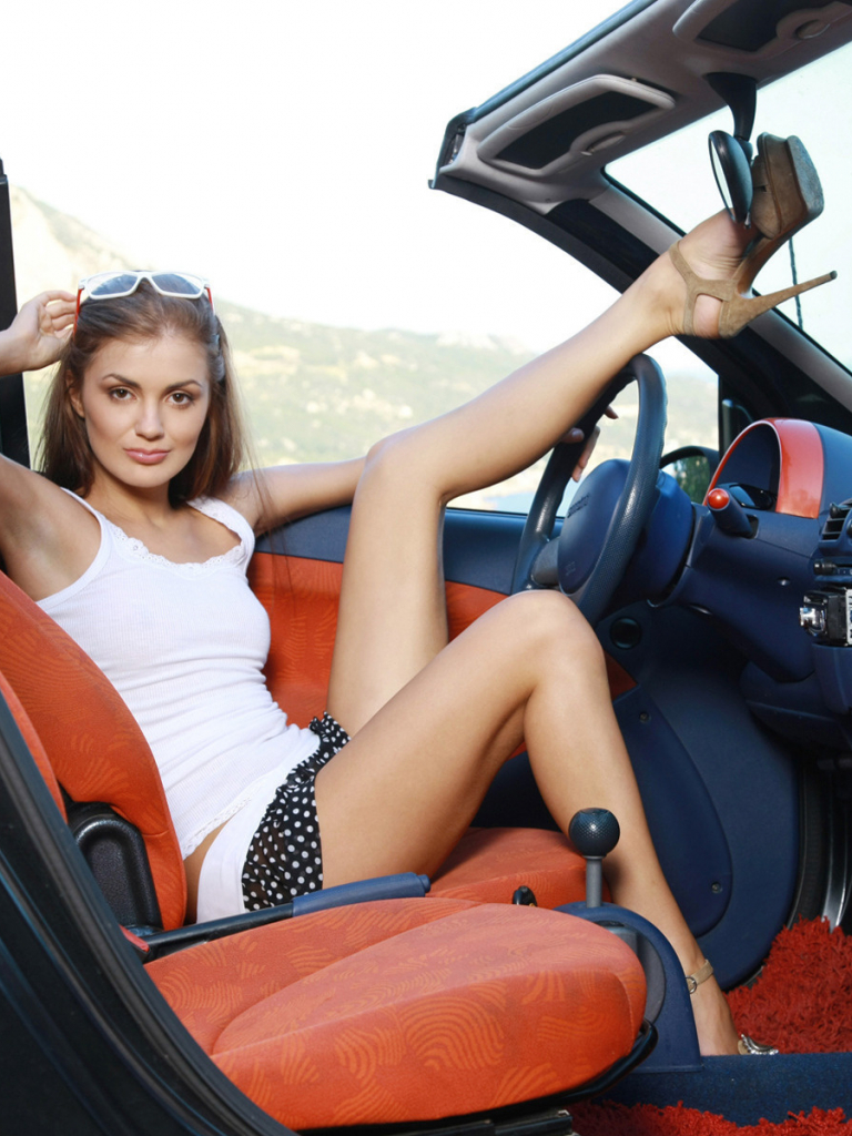 Restore A Muscle Car >> Free download Sexy girl in her Smart roadster car Cars and ...
