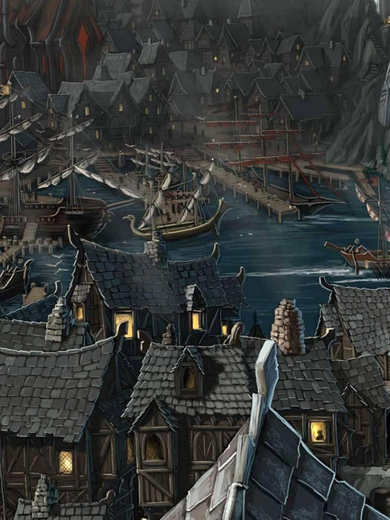 Free Download Download Wallpaper Riddleport Town In Rpg
