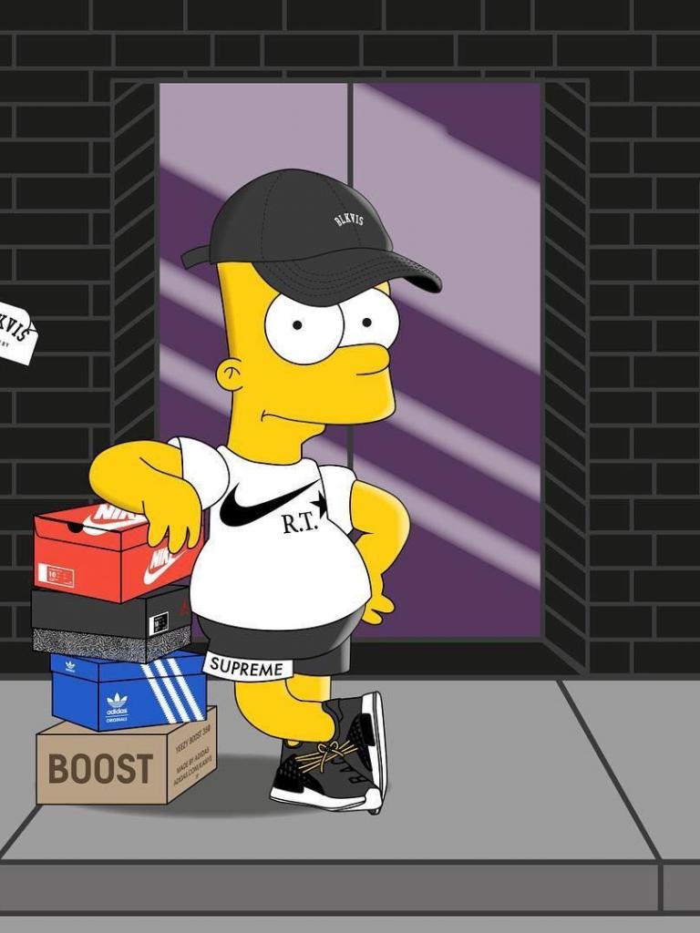 Cool Bart Simpson Hypebeast Supreme Wallpaper - Karon C. Shade