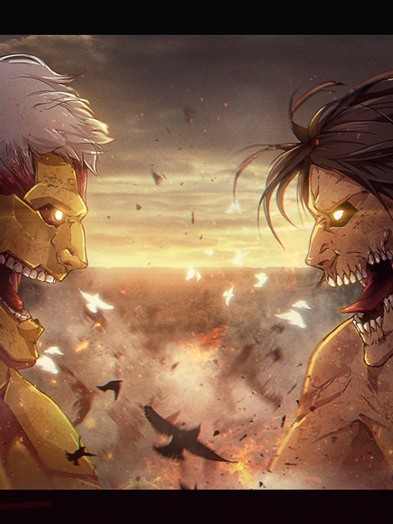 Free Download Eren Rogue Titan Vs Armored Titan Attack On Titan Shingeki No Kyojin 1920x1080 For Your Desktop Mobile Tablet Explore 49 Attack On Titan Hd Wallpapers Attack On