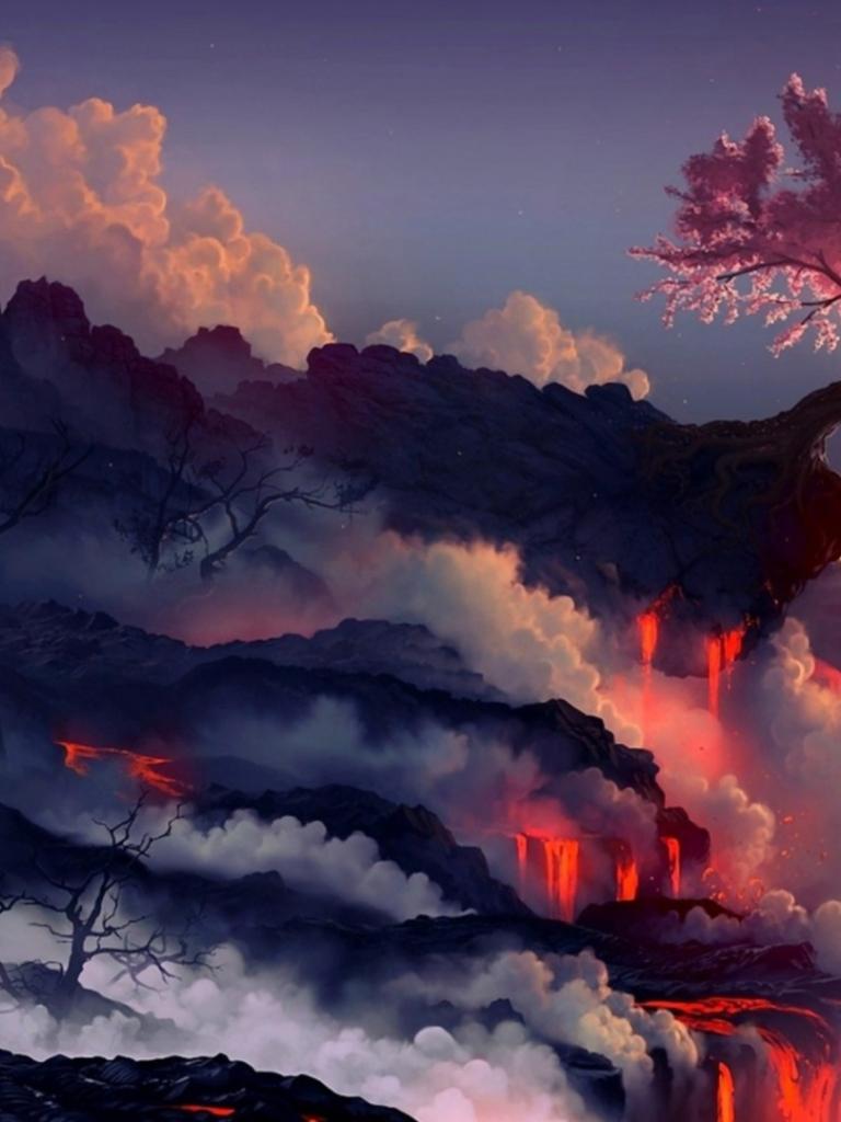 Free Anime Dark Landscape Wallpaper Desktop