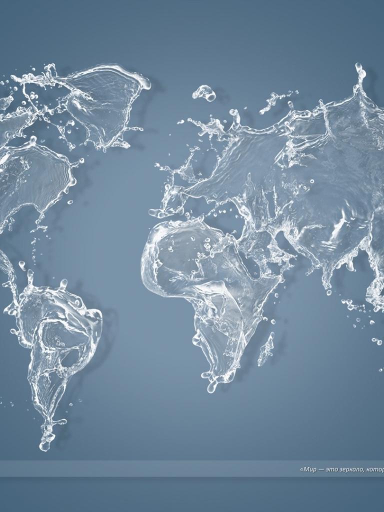 Free Wallpapers Wallpaperswater World Map Windows