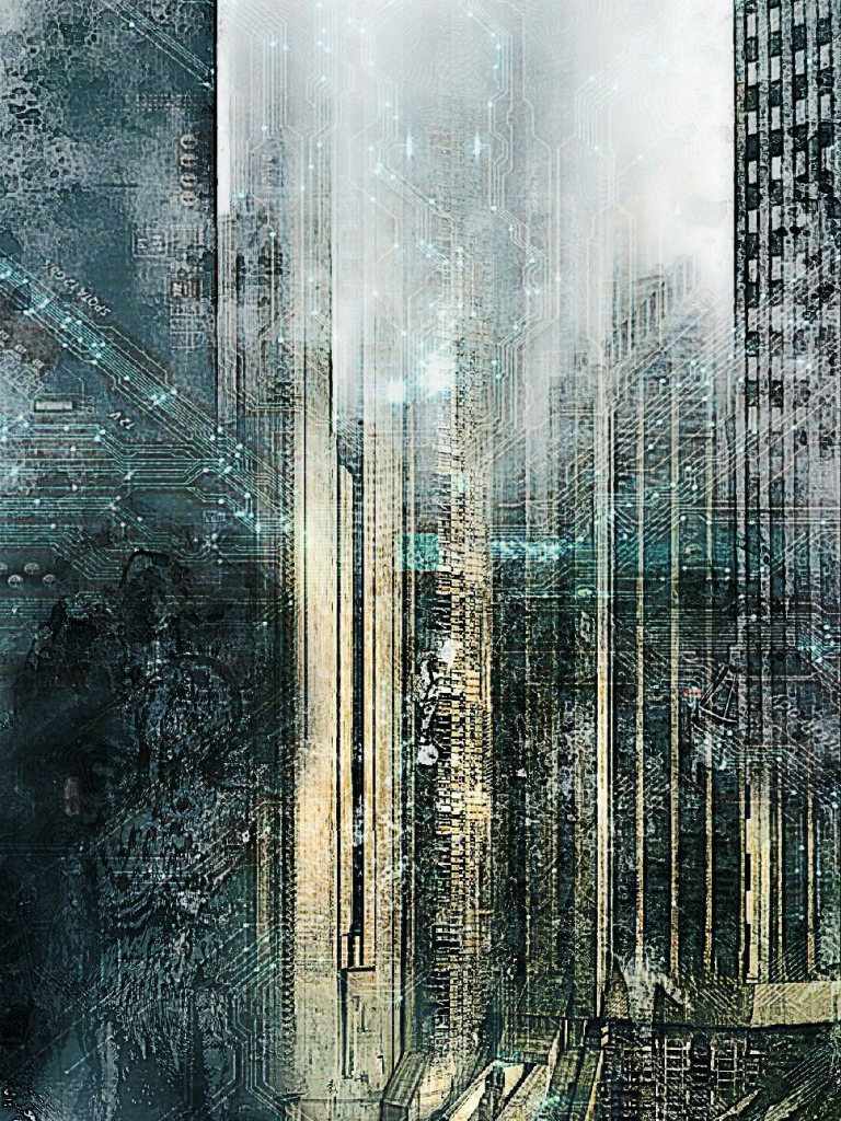 Free Download Background Dystopian City By Wallpaper Iphone