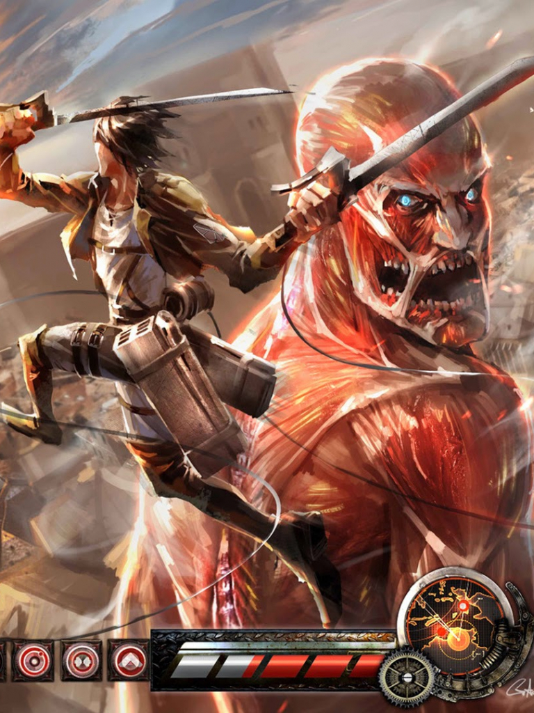 Free Download Attack On Titan Video Game Eren Vs Colossal Titan Shingeki No Kyojin 1920x1080 For Your Desktop Mobile Tablet Explore 50 Attack On Titan Logo Wallpaper Attack On